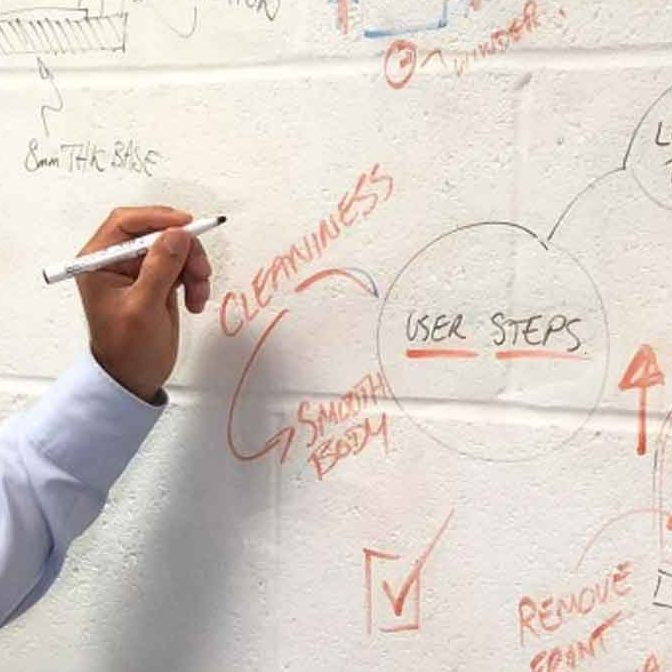 User steps brainstorming