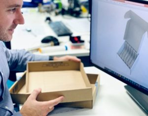 Medical device Design Engineer designing sustainable packaging for an auto-injector